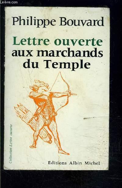 LETTRE OUVERTE AUX MARCHAND DU TEMPLE