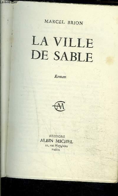LA VILLE DE SABLE- ENVOI DE L AUTEUR