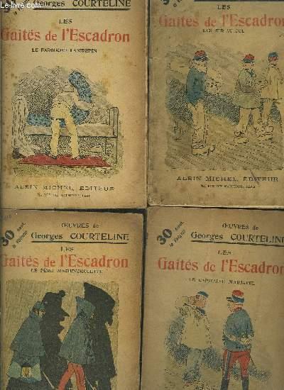 LES GAITES DE L ESCADRON- 4 TOMES EN 4 VOLUMES- 4. LE CAPITAINE MARJAVEL- 5. LE PERE MACHINCHOUETTE- 6. LES TIR AU CUL- 7. LE FAROUCHE LAIGREPIN