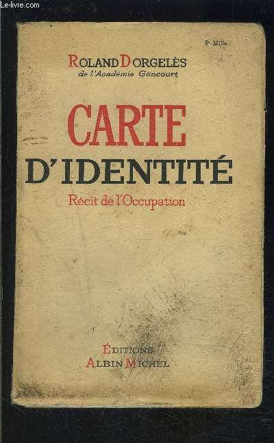 CARTE D IDENTITE- RECIT DE L OCCUPATION