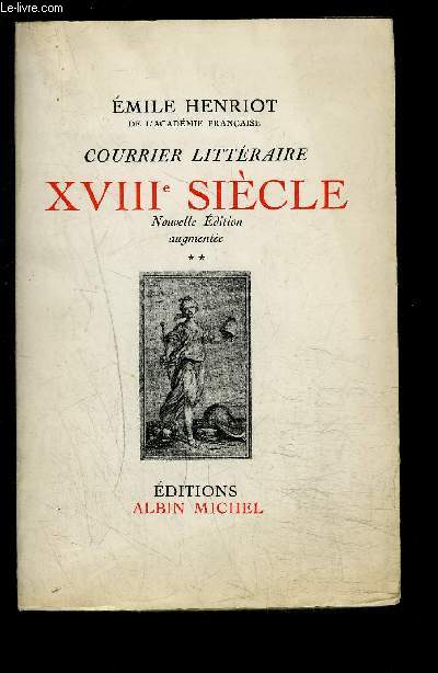 COURRIER LITTERAIRE XVIIIe SIECLE- TOME 2