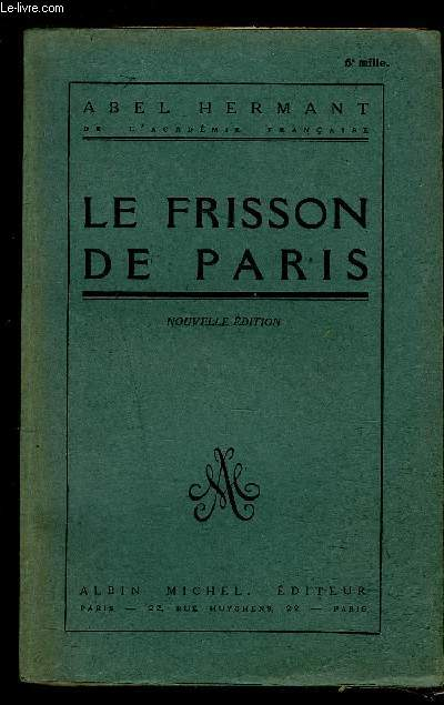 LE FRISSON DE PARIS