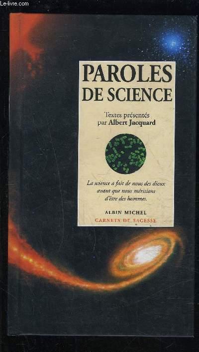 PAROLES DE SCIENCES