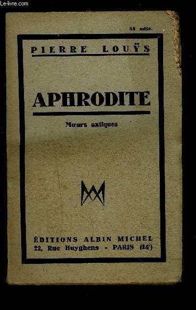 APHRODITE- MOEURS ANTIQUES