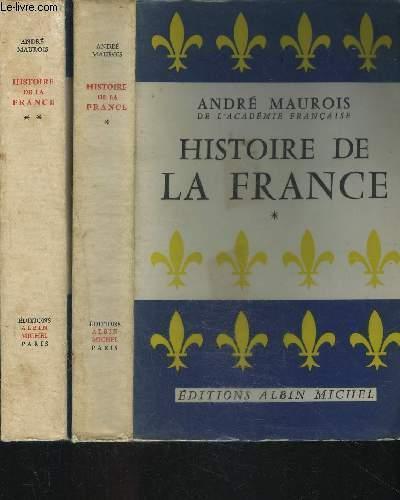 HISTOIRE DE LA FRANCE- 2 TOMES EN 2 VOLUMES- TOME 1+ TOME 2