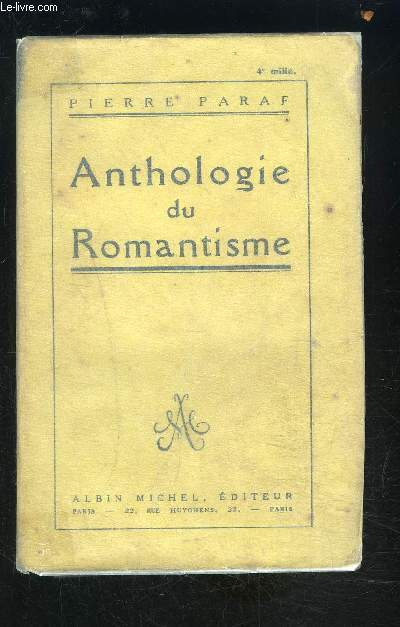 ANTHOLOGIE DU ROMANTISME