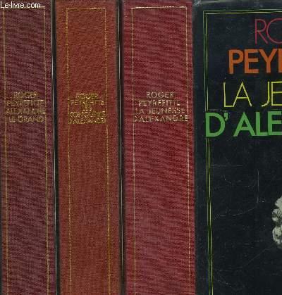 ALEXANDRE LE GRAND- 3 TOMES EN 3 VOLUMES- LES CONQUETES D ALEXANDRE- LA JEUNESSE D ALEXANDRE
