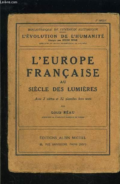 L EUROPE FRANCAISE AU SIECLE DES LUMIERES