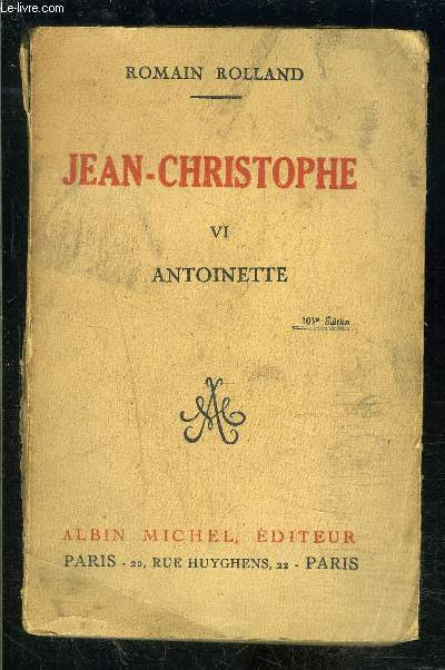 JEAN CHRISTOPHE- 1 SEUL VOLUME- TOME 6. ANTOINETTE