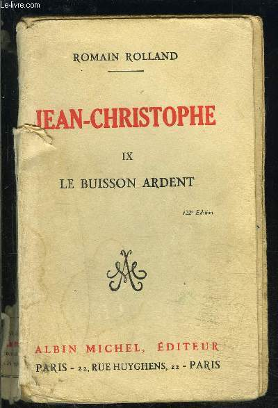 JEAN CHRISTOPHE- TOME 9- LE BUISSON ARDENT