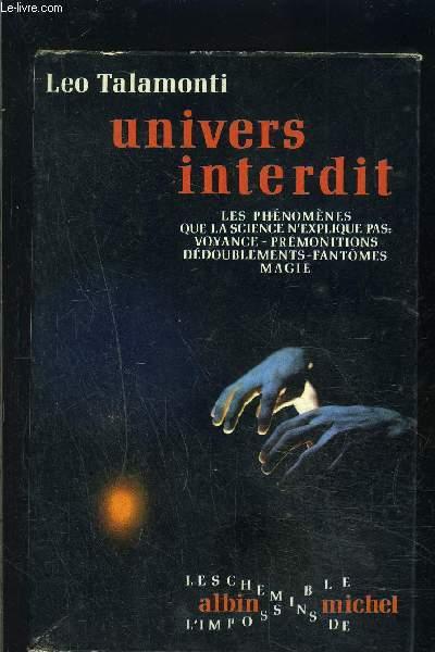 UNIVERS INTERDIT