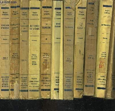 1 LOT DE 11 LIVRES DIFFERENTS DE ROGER VERCEL: VISAGE PERDU- CAPITAINE CONAN- LA CARAVANE DE PAQUES- AU LARGE DE L EDEN- LA CLANDESTINE- ETE INDIEN- LA HOURIE- L ILE DES REVENANTS- JEAN VILLEMEUR- REMORQUES- SOUS LE PIED DE L ARCHANGE.