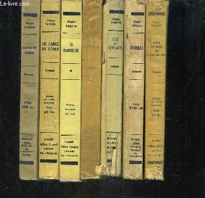 1 LOT DE 7 LIVRES DIFFERENTS DE ROGER VERCEL: CAPITAINE CONAN- AU LARGE DE L EDEN- LA CLANDESTINE- ETE INDIEN- L ILE DES REVENANTS- REMORQUES- SOUS LE PIED DE L ARCHANGE.