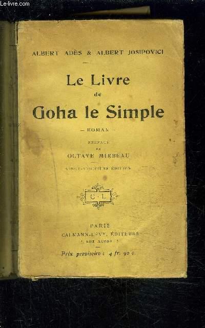 LE LIVRE DE GOHA LE SIMPLE