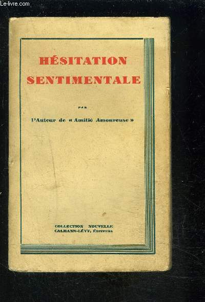 HESITATION SENTIMENTALE
