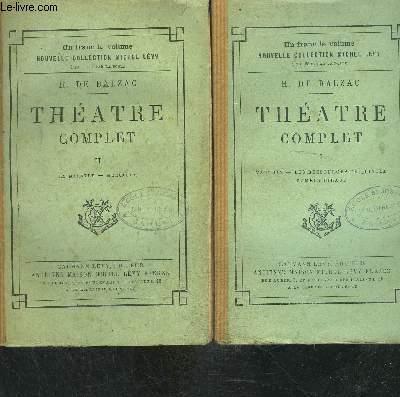 THEATRE COMPLET- 2 TOMES EN 2 VOLUMES- tome 1: Vautrin- Les ressources de Quinola- Paméla Giraud / tome 2: La marâtre- Mercadet