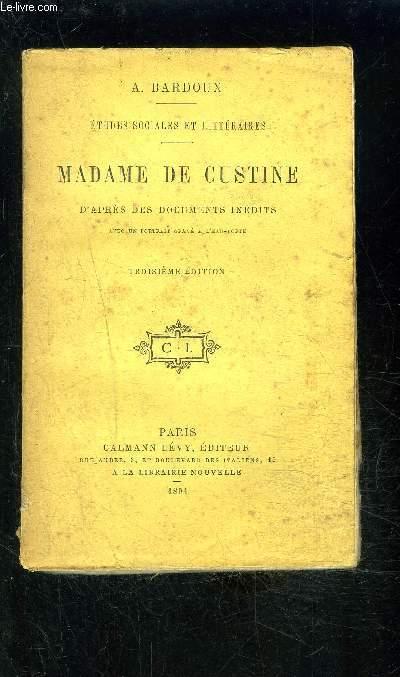 MADAME DE CUSTINE