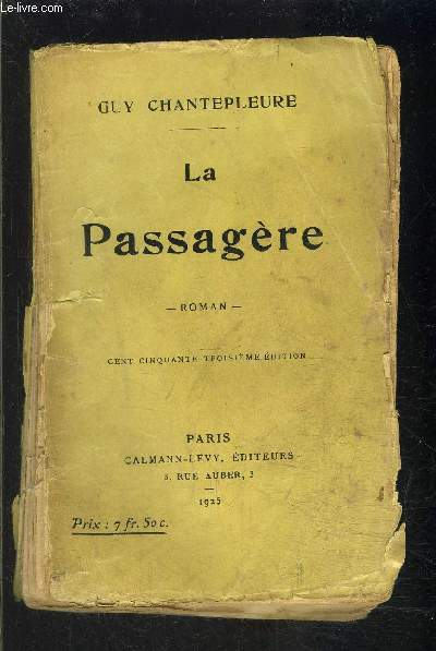 LA PASSAGERE- VENDU EN L ETAT