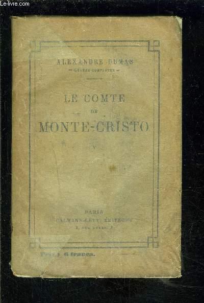 LE COMTE DE MONTE CRISTO- TOME 5 vendu seul