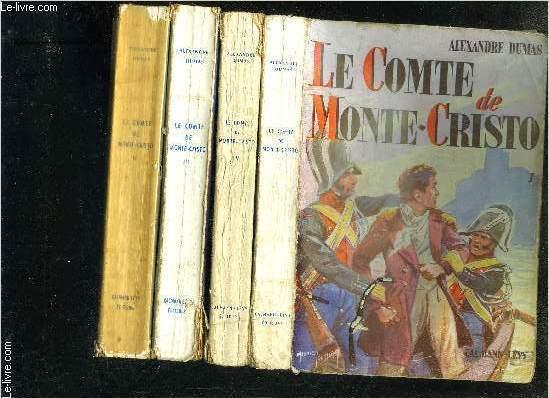 LE COMTE DE MONTE CRISTO- 4 TOMES EN 4 VOLUMES