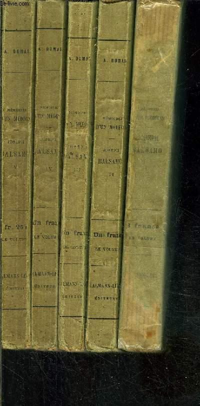 JOSEPH BALSAMO- 5 TOMES EN 5 VOLUMES- MEMOIRES D'UN MEDECIN
