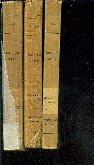 VINGT ANS APRES- 3 TOMES EN 3 VOLUMES