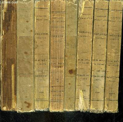 THEATRE COMPLET- AVEC PREFACES INEDITES- 8 TOMES EN 8 VOLUMES- TOME I (423 pages) : La Dame aux Camélias - Diane de Lys - Le Bijou de la Reine . TOME II (384 pages) : Le Demi-Monde - La Question d