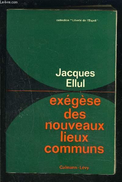 EXEGESE DES NOUVEAUX LIEUX COMMUNS