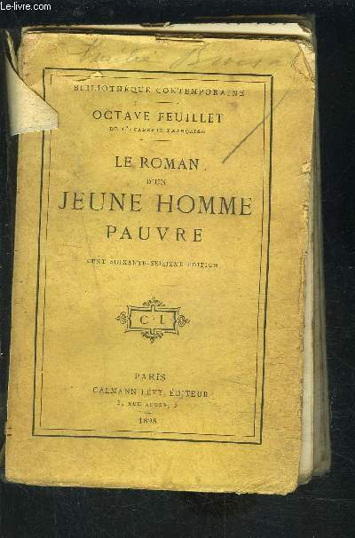 LE ROMAN D UN JEUNE HOMME PAUVRE- VENDU EN L ETAT