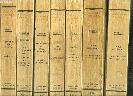 OEUVRES COMPLETES ILLUSTREES- COMPLET- 25 TOMES EN 25 VOLUMES- TOME I. Alfred de Vigny - poesies - TOME II. Jocaste et le chat maigre - le crime de Sylvestre Bonnard - TOME III. les desirs de Jean Servien - le livre de mon ami - TOME IV. nos enfants...