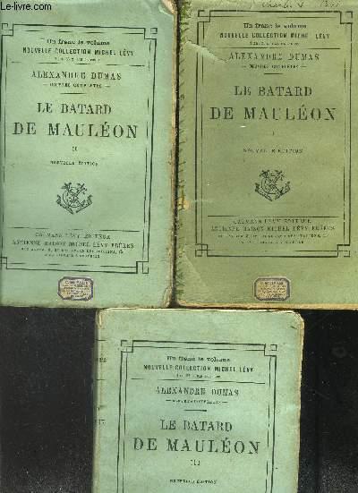 LE BATARD DE MAULEON- 3 TOMES EN 3 VOLUMES- VENDU EN L  ETAT