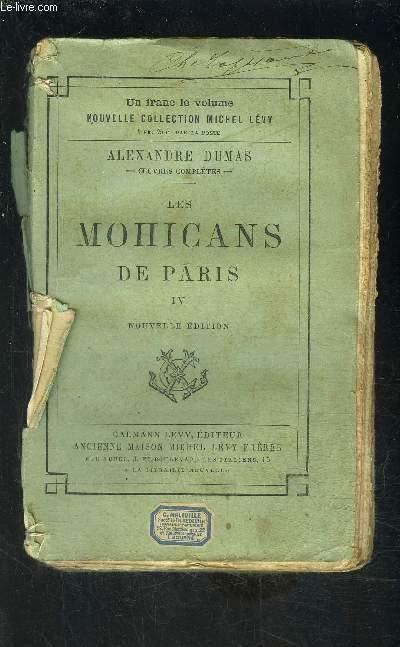 LES MOHICANS DE PARIS- TOME 4- vendu seul- VENDU EN L ETAT