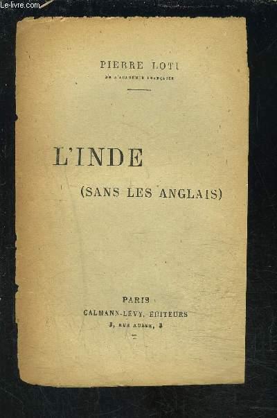 L INDE - SANS LES ANGLAIS- VENDU EN L ETAT