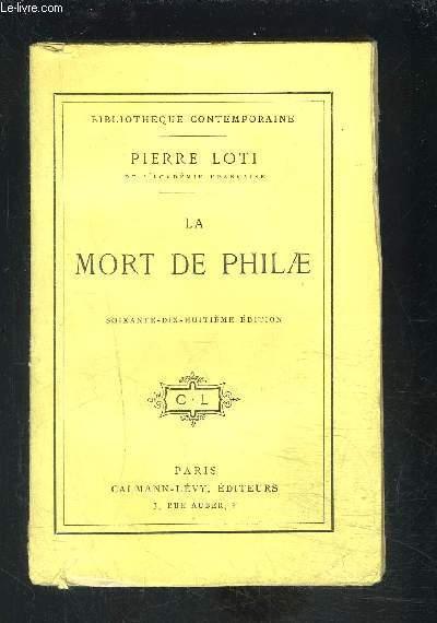 LA MORT DE PHILAE