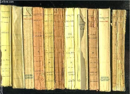 1 LOT DE 11 LIVRES DIFFERENTS DE PIERRE LOTI: AZIYADE- LES DESENCHANTEES- JERUSALEM- MADAME CHRYSANTHEME- LE MARIAGE DE LOTI- MATELOT- MON FRERE YVES- PECHEUR D ISLANDE- PRIME JEUNESSE- RAMUNTCHO- LE ROMAN D UN ENFANT- VENDU EN L ETAT