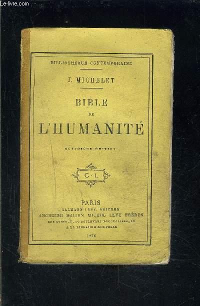 BIBLE DE L HUMANITE