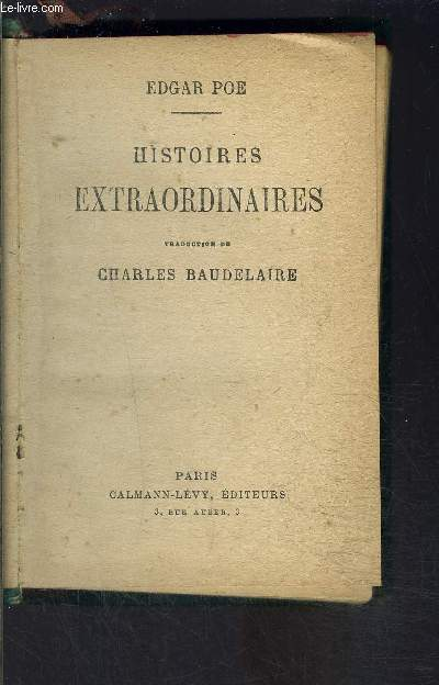 HISTOIRES EXTRAORDINAIRES- TOME 5 seul