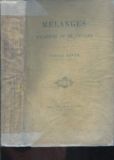 MELANGES D HISTOIRE ET DE VOYAGES