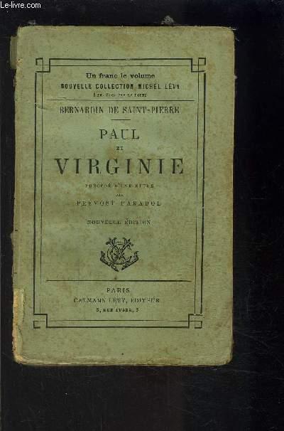 PAUL ET VIRGINIE précédé d'une étude par Prévost Paradol
