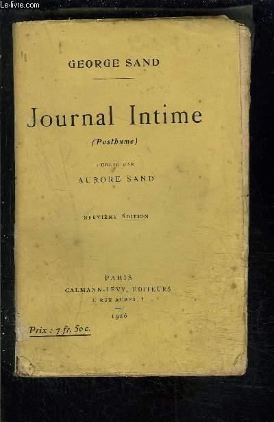 JOURNAL INTIME publié par Aurore Sand