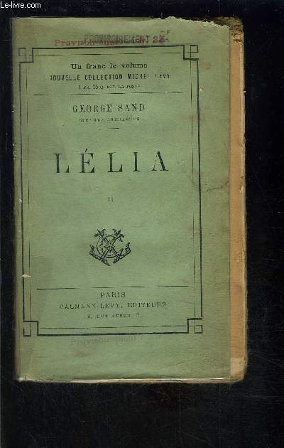 LELIA- TOME 2- vendu seul