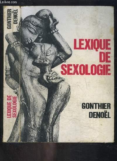 LEXIQUE DE SEXOLOGIE