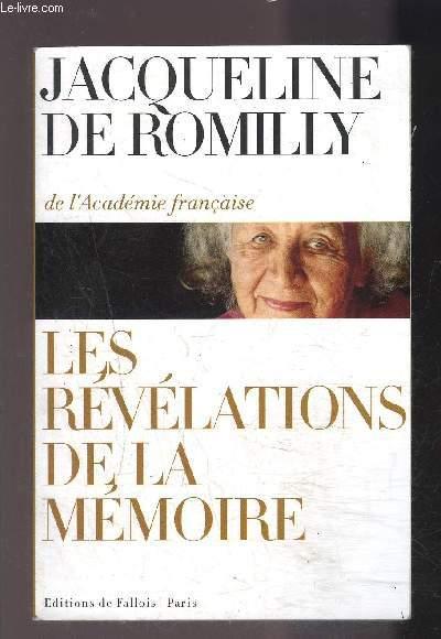 LES REVELATIONS DE LA MEMOIRE