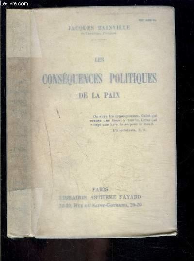 LES CONSEQUENCES POLITIQUES DE LA PAIX