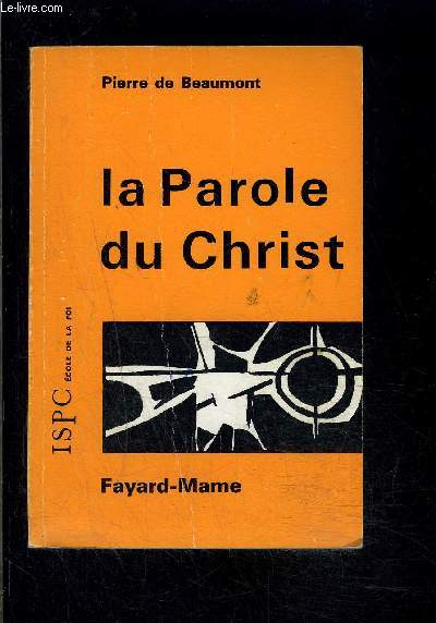 LA PAROLE DU CHRIST