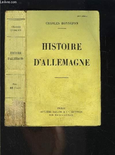 HISTOIRE D ALLEMAGNE