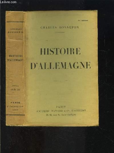 HISTOIRE DE L ALLEMAGNE