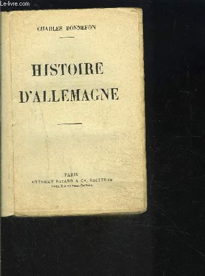 HISTOIRE DE L ALLEMAGNE- VENDU EN L ETAT