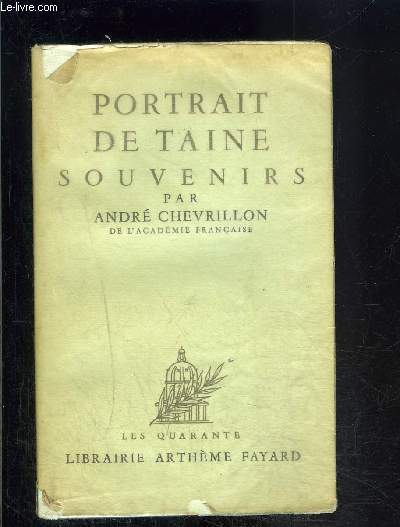 PORTRAIT DE TAINE- SOUVENIRS