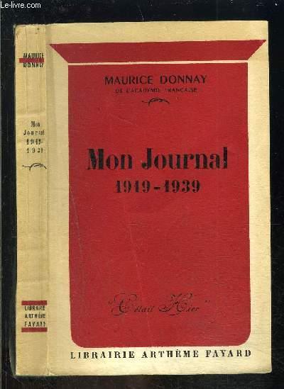 MON JOURNAL 1919-1939
